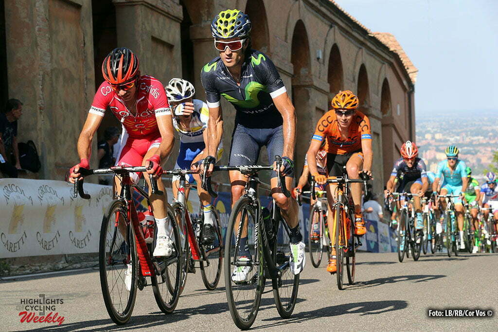 Bologna - San Luca - Italy - wielrennen - cycling - radsport - cyclisme - Daniel Moreno (Movistar) pictured during Giro dell' Emilia Internazionale Elite - photo Anton Vos/Cor Vos © 2016