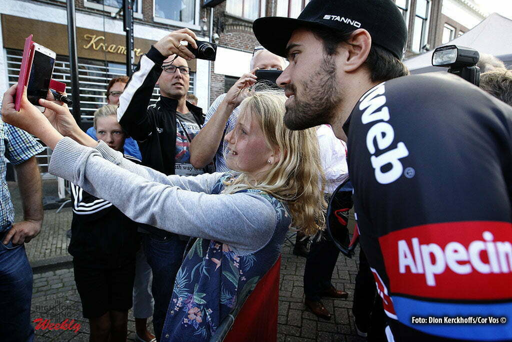 Bolsward - Netherlands - wielrennen - cycling - radsport - cyclisme - Tom Dumoulin (Netherlands / Team Giant - Alpecin) pictured during Eneco Tour teampresentation in Bolsward - photo Dion Kerckhoffs/Cor Vos © 2016
