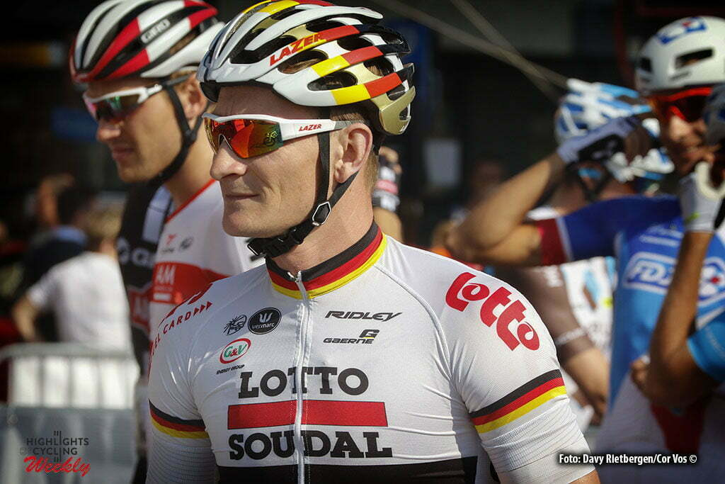Ardooie - Belgium - wielrennen - cycling - radsport - cyclisme - Andre Greipel (Germany / Team Lotto Soudal) pictured during Eneco Tour stage -3 - UCI World Tour) from Blankenberge to Ardooie - photo Dion Kerckhoffs/Cor Vos © 2016 motard Kenny Verfaillie