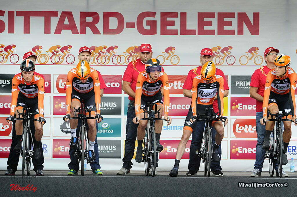 Sittard-Geleen - Netherlands - wielrennen - cycling - radsport - cyclisme - Team Roompot - Oranje Peloton pictured during Eneco Tour stage -5 - UCI World Tour) from Sittard- Sittard-Geleen to Sittard-Geleen - TTT Team Time Trial - photo Davy Rietbergen/Miwa iijima//Cor Vos © 2016