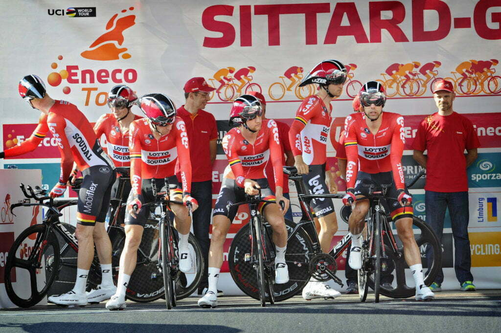 Sittard-Geleen - Netherlands - wielrennen - cycling - radsport - cyclisme - team Lotto Soudal pictured during Eneco Tour stage -5 - UCI World Tour) from Sittard- Sittard-Geleen to Sittard-Geleen - TTT Team Time Trial - photo Davy Rietbergen/Miwa iijima//Cor Vos © 2016