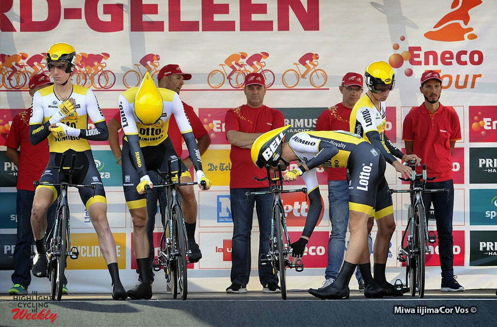 Sittard-Geleen - Netherlands - wielrennen - cycling - radsport - cyclisme - team LottoNL - Jumbo pictured during Eneco Tour stage -5 - UCI World Tour) from Sittard- Sittard-Geleen to Sittard-Geleen - TTT Team Time Trial - photo Davy Rietbergen/Miwa iijima//Cor Vos © 2016