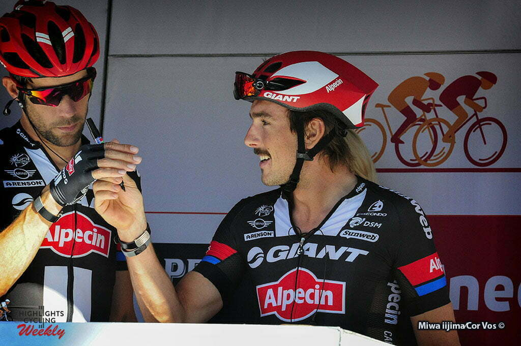 Geraardsbergen - Belgium - wielrennen - cycling - radsport - cyclisme - Albert Timmer (Netherlands / Team Giant - Alpecin) - John Degenkolb (Germany / Team Giant - Alpecin) pictured during Eneco Tour stage -7 - UCI World Tour) from Bornem to Geraardsbergen - photo Miwa iijimaCor V/os © 2016