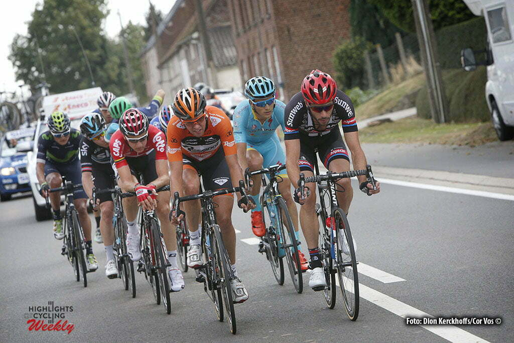 Geraardsbergen - Belgium - wielrennen - cycling - radsport - cyclisme - Brian van Goethem (Netherlands / Roompot - Oranje Peloton) - Roy Curvers (Netherlands / Team Giant - Alpecin) - Tim Wellens (Belgium / Team Lotto Soudal) pictured during Eneco Tour stage -7 - UCI World Tour) from Bornem to Geraardsbergen - photo Dion Kerckhoffs/Cor Vos © 2016