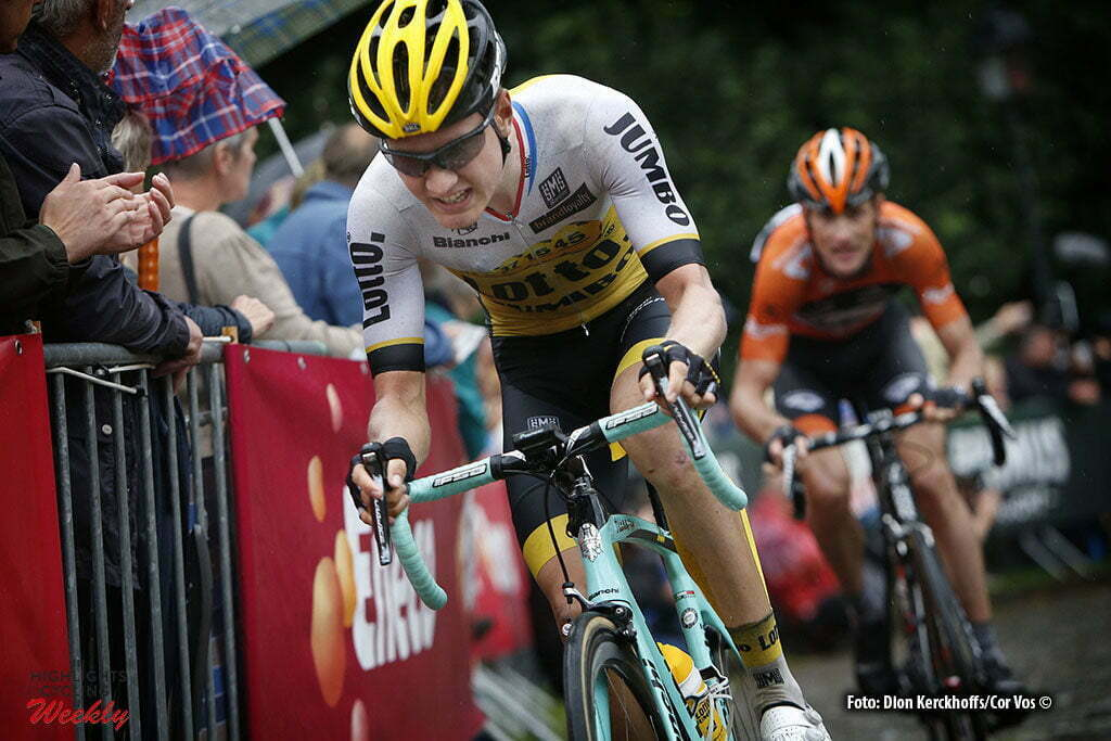 Geraardsbergen - Belgium - wielrennen - cycling - radsport - cyclisme - Wilco Kelderman (Netherlands / Team LottoNL - Jumbo) - Pieter Weening (Netherlands / Roompot - Oranje Peloton) pictured during Eneco Tour stage -7 - UCI World Tour) from Bornem to Geraardsbergen - photo Dion Kerckhoffs/Cor Vos © 2016