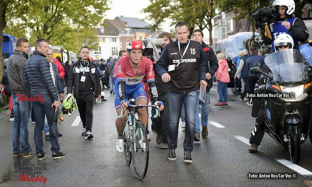 Doornik 02/09/2016, eurometropole tour van Poperinge tot Doornik op foto: winnaar Dylan Groenewegen (picture by Florian Van Eenoo/photonews)