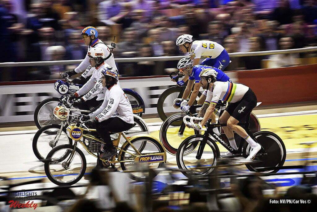 Gent - Belgium - wielrennen - cycling - radsport - cyclisme - Bradley Wiggins (GBR), Kenny De Ketele (BEL) and Iljo Keisse (BEL) pictured during the last and final day of the 76th Lotto Six Days Vlaanderen on November 15, 2016 at Het Kuipke velodrome in Gent, Belgium - photo NV/PN/Cor Vos © 2016