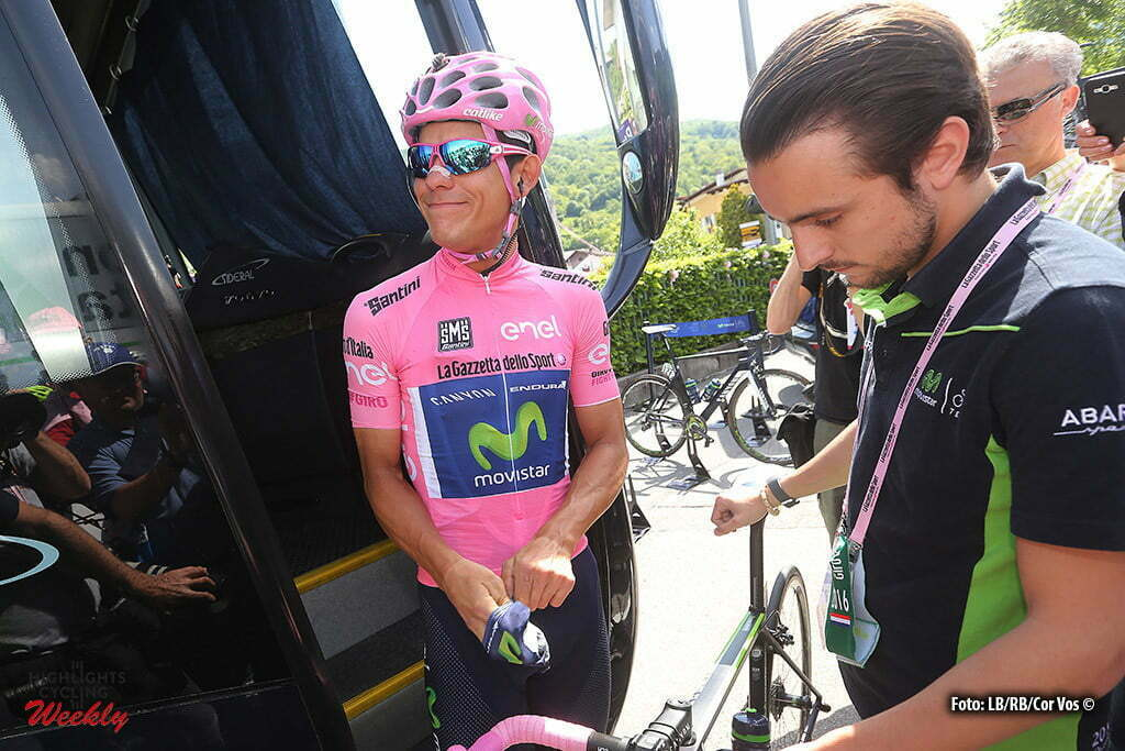 Corvara - Italy - wielrennen - cycling - radsport - cyclisme - Andrey Amador Bikkazakova (Kroatia / Team Movistar) pictured during stage 14 of the 99th Giro d'Italia 2016 from Alpago to Corvara 210 km - foto LB/RB/Cor Vos © 2016