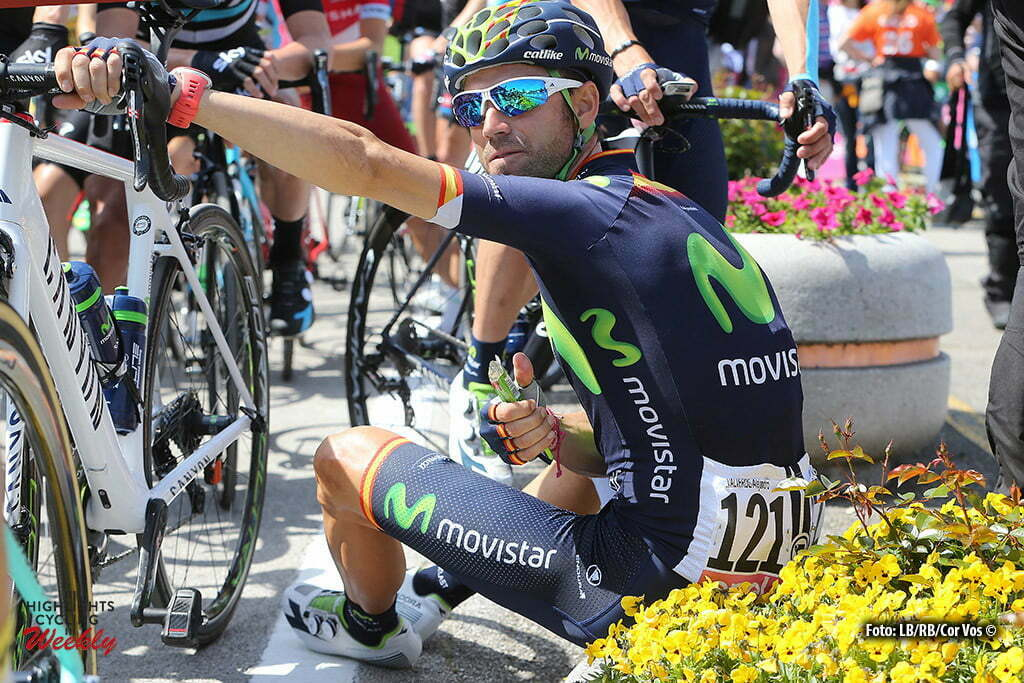 Corvara - Italy - wielrennen - cycling - radsport - cyclisme - Alejandro Valverde (Movistar) pictured during stage 14 of the 99th Giro d'Italia 2016 from Alpago to Corvara 210 km - foto LB/RB/Cor Vos © 2016