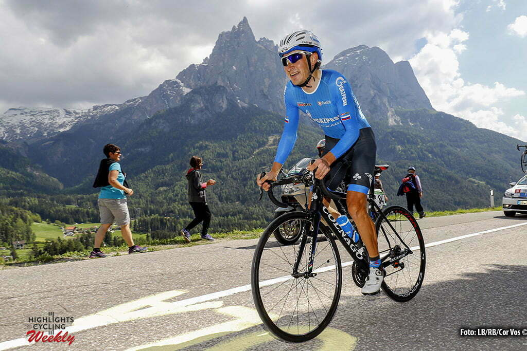 Alpe di Siusi - Italy - wielrennen - cycling - radsport - cyclisme - Sergey Firsanov (Gazprom - RusVelo pictured during stage 14 of the 99th Giro d'Italia 2016 from Castelrotto to Alpe di Siusi a Mountain Time Trial individual - foto LB/RB/Cor Vos © 2016