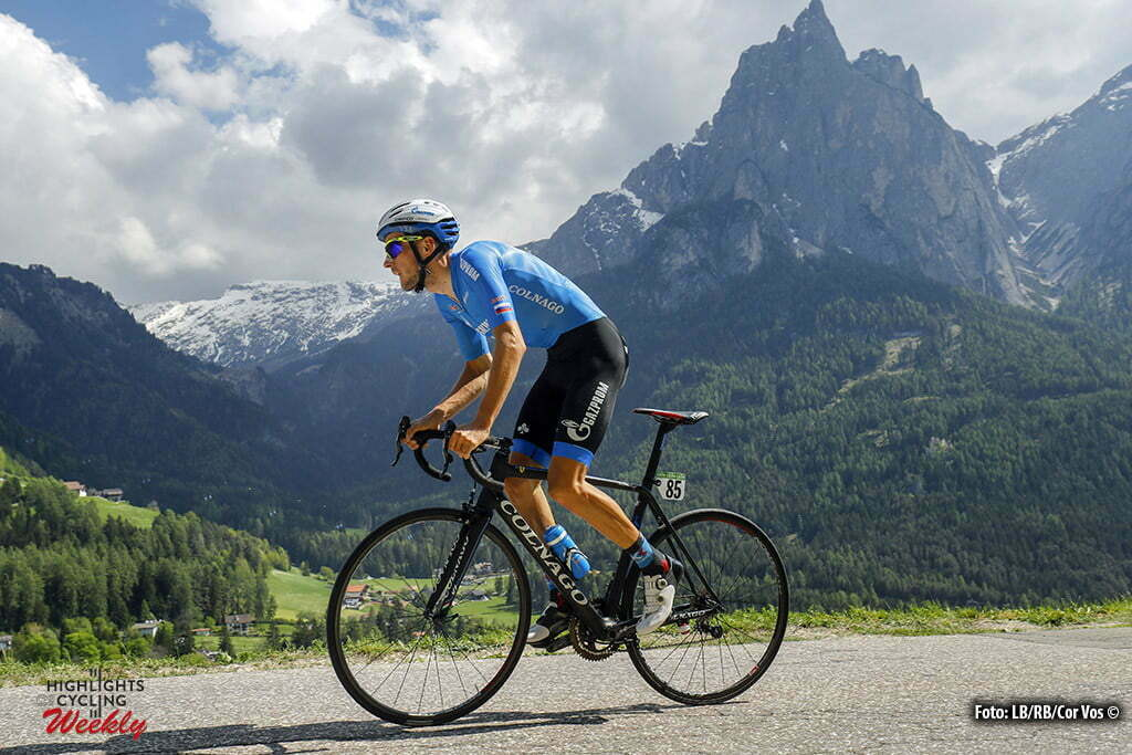 Alpe di Siusi - Italy - wielrennen - cycling - radsport - cyclisme - Alexander Foliforov (Gazprom - RusVelo pictured during stage 14 of the 99th Giro d'Italia 2016 from Castelrotto to Alpe di Siusi a Mountain Time Trial individual - foto LB/RB/Cor Vos © 2016