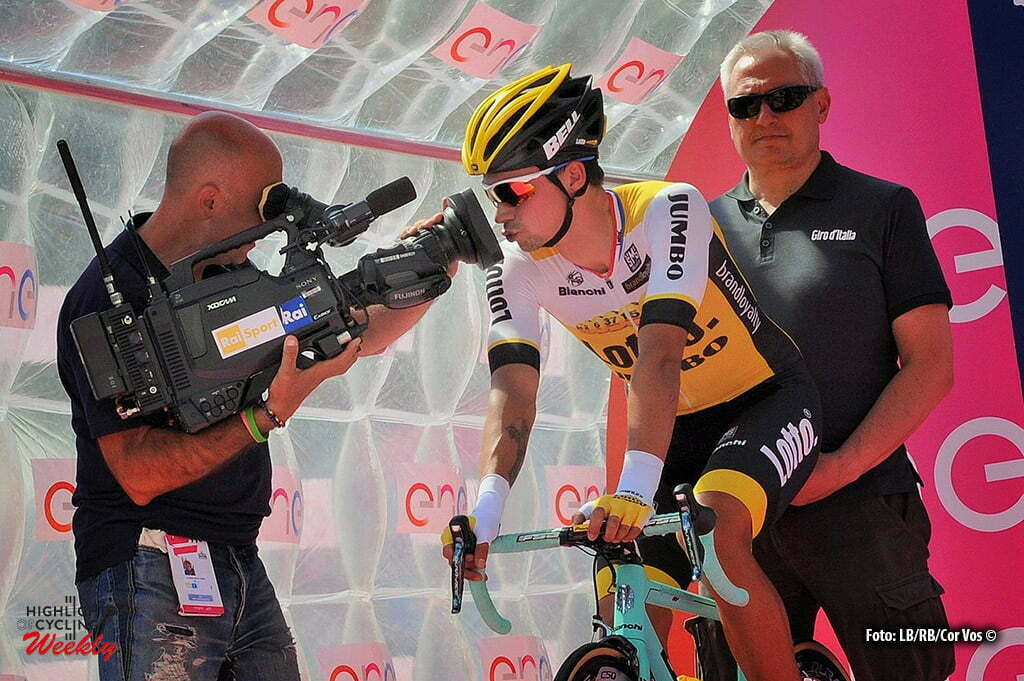 Alpe di Siusi - Italy - wielrennen - cycling - radsport - cyclisme - Primoz Roglic (Slowenia / Team LottoNL - Jumbo) pictured during stage 14 of the 99th Giro d'Italia 2016 from Castelrotto to Alpe di Siusi a Mountain Time Trial individual - foto Miwa IIjima/Cor Vos © 2016