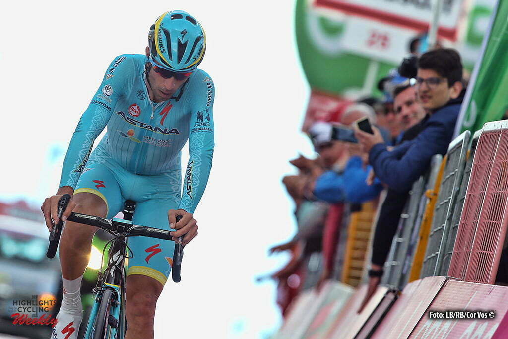 Alpe di Siusi - Italy - wielrennen - cycling - radsport - cyclisme - Vincenzo Nibali (Astana) pictured during stage 14 of the 99th Giro d'Italia 2016 from Castelrotto to Alpe di Siusi a Mountain Time Trial individual - foto LB/RB//Cor Vos © 2016