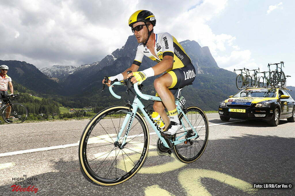 Alpe di Siusi - Italy - wielrennen - cycling - radsport - cyclisme - Enrico Battaglin (LottoNL - Jumbo) pictured during stage 14 of the 99th Giro d'Italia 2016 from Castelrotto to Alpe di Siusi a Mountain Time Trial individual - foto LB/RB//Cor Vos © 2016