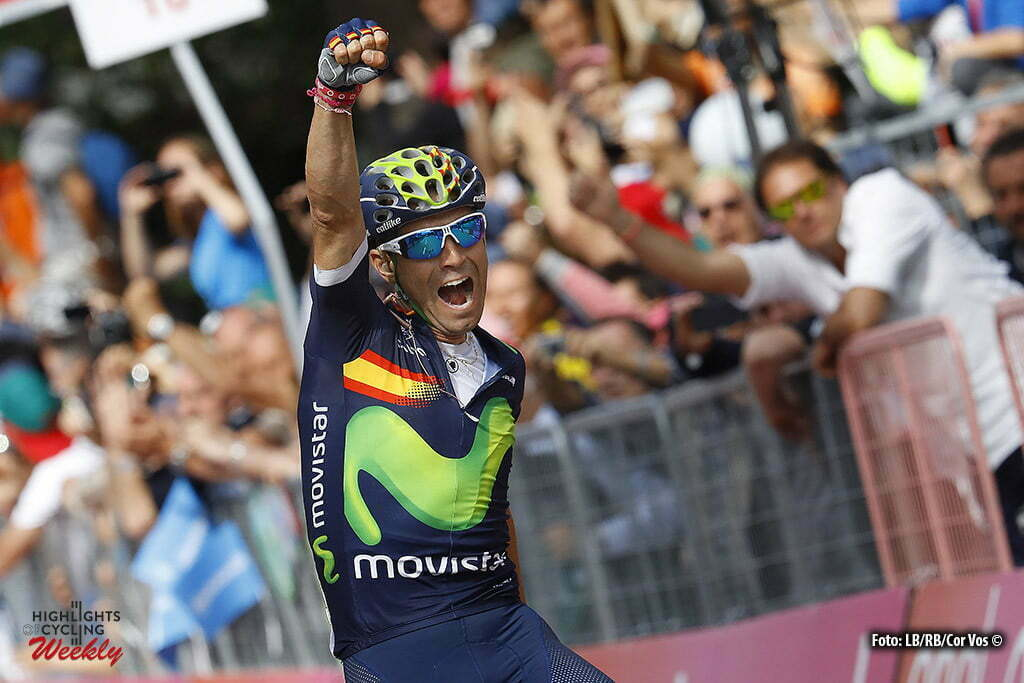 Andalo - Italy - wielrennen - cycling - radsport - cyclisme - Valverde Belmonte Alejandro (Spain / Team Movistar) pictured during stage 16 of the 99th Giro d'Italia 2016 from Bressanone - Andalo 132 km - foto LB/RB/Cor Vos © 2016