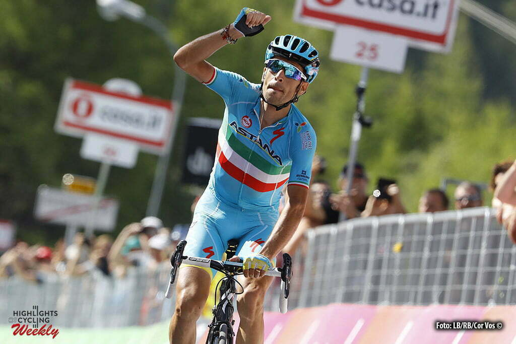 Risoul - Italy - wielrennen - cycling - radsport - cyclisme - Vincenzo Nibali (Astana) pictured during stage 19 of the 99th Giro d'Italia 2016 from Pinerolo to Risoul (162km) - foto LB/RB/Cor Vos © 2016