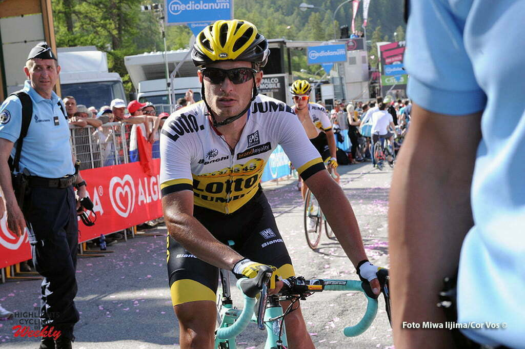 Risoul - Italy - wielrennen - cycling - radsport - cyclisme - Primoz Roglic (Slowenia / Team LottoNL - Jumbo) pictured during stage 19 of the 99th Giro d'Italia 2016 from Pinerolo to Risoul (162km) - foto Miwa IIjima/Cor Vos © 2016