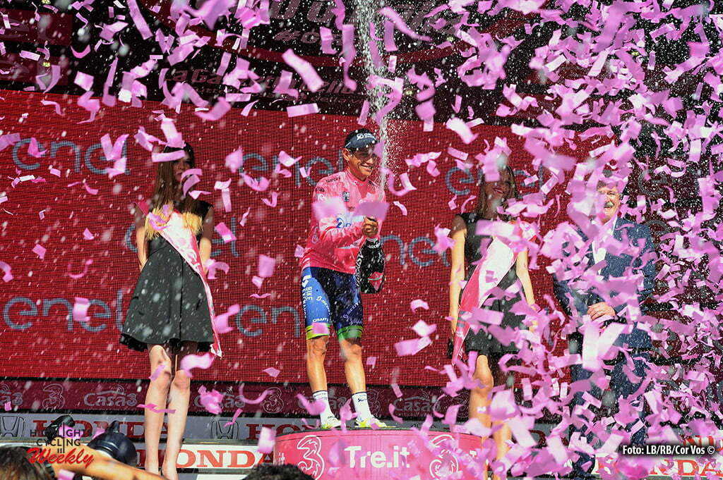 Risoul - Italy - wielrennen - cycling - radsport - cyclisme - Chaves Rubio Jhoan Esteban (Columbia / Team Orica Greenedge) pictured during stage 19 of the 99th Giro d'Italia 2016 from Pinerolo to Risoul (162km) - foto Miwa IIjima/Cor Vos © 2016