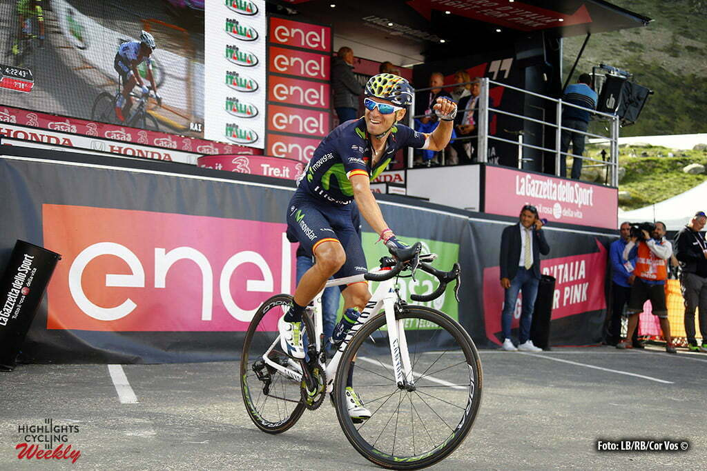 Sant'Anna di Vinadio - Italy - wielrennen - cycling - radsport - cyclisme - Alejandro Valverde Belmonte (Spain / Team Movistar) pictured during stage 20 of the 99th Giro d'Italia 2016 from Guillestre to Sant'Anna di Vinadio 134 km - foto LB/RB/Cor Vos © 2016
