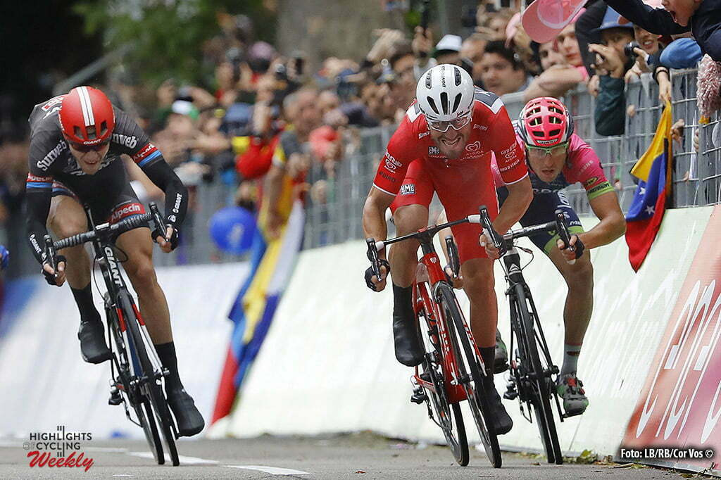 Torino - Italy - wielrennen - cycling - radsport - cyclisme - Giacomo Nizzolo (Trek - Segafredo) - Sacha Modolo (Lampre - Merida) - Nikias Arndt (Giant - Alpecin) pictured during stage 21 of the 99th Giro d'Italia 2016 from Cuneo to Torino 163 km - foto DB/RB/Cor Vos © 2016