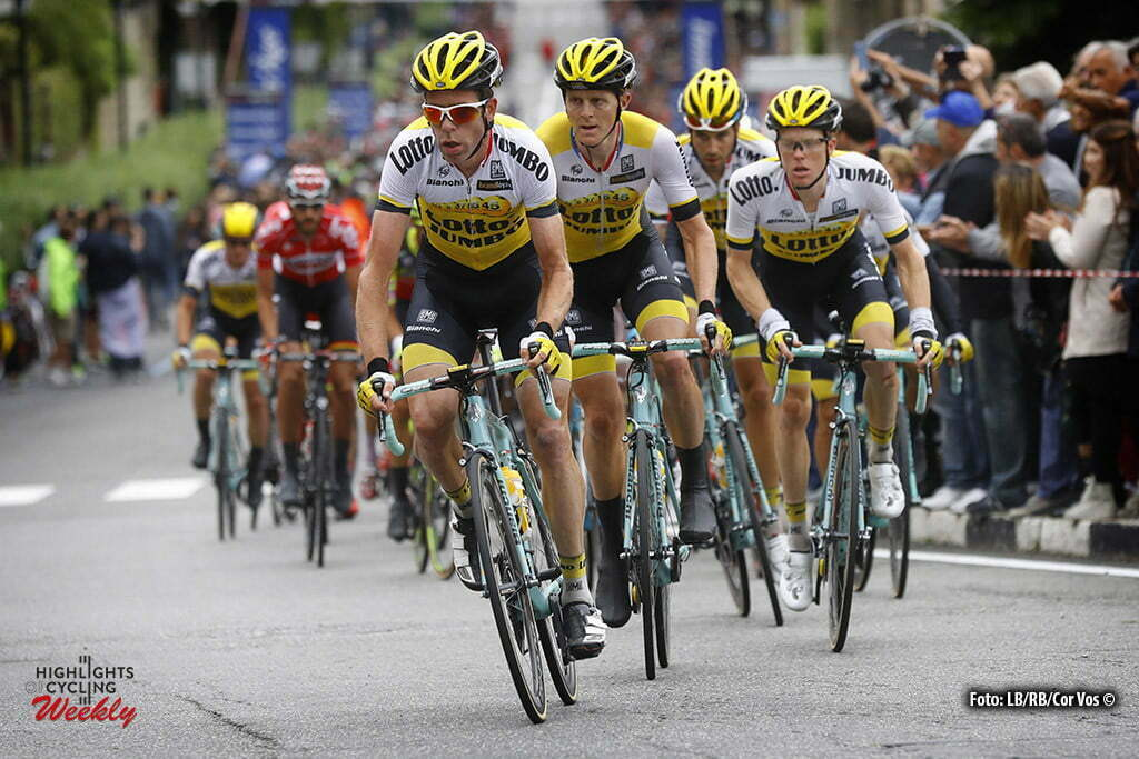 Torino - Italy - wielrennen - cycling - radsport - cyclisme - Bram Tankink (Netherlands / Team LottoNL - Jumbo) - Twan Castelijns (Netherlands / Team LottoNL - Jumbo) - Steven Kruijswijk (Netherlands / Team LottoNL - Jumbo) - Martijn Keizer (Netherlands / Team LottoNL - Jumbo) pictured during stage 21 of the 99th Giro d'Italia 2016 from Cuneo to Torino 163 km - foto ~LB/RB/Cor Vos © 2016
