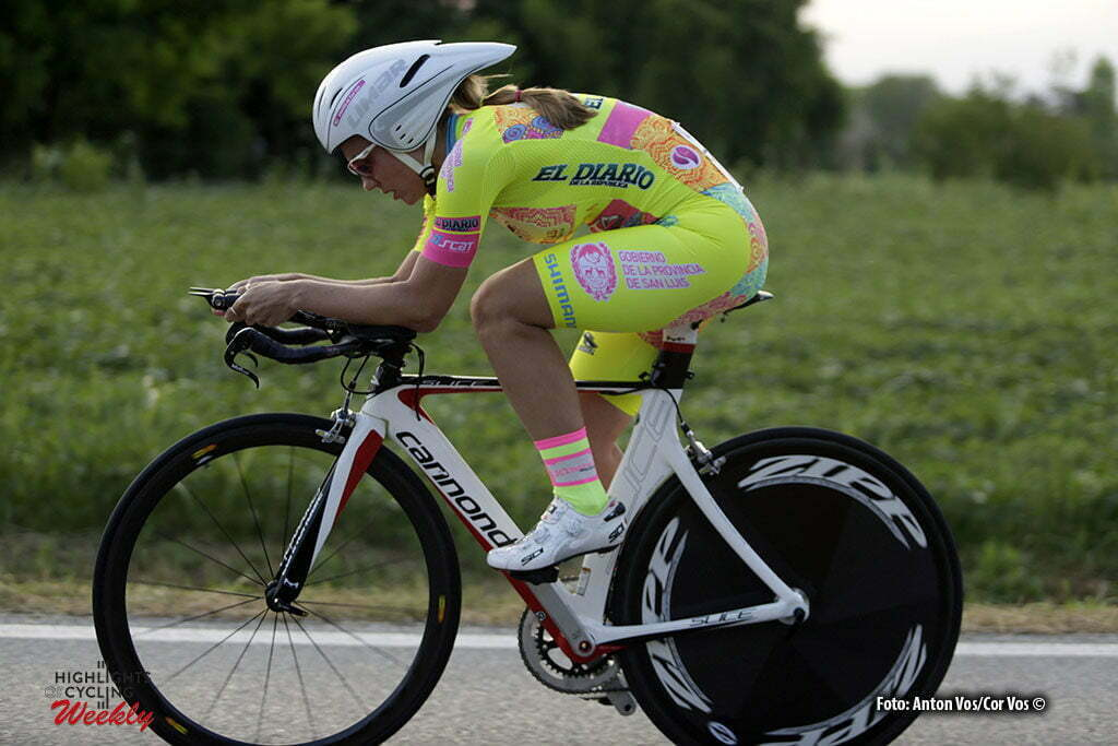Gaiarine - Italy - wielrennen - cycling - radsport - cyclisme - Pintos Valeria (Argentina / Xirayas de San Luis) pictured during the prologue of the Giro d'Italia Internazionale Femminile 2016 (2.WWT) - ITT Time Trial In individual - photo Anton Vos/Cor Vos © 2016