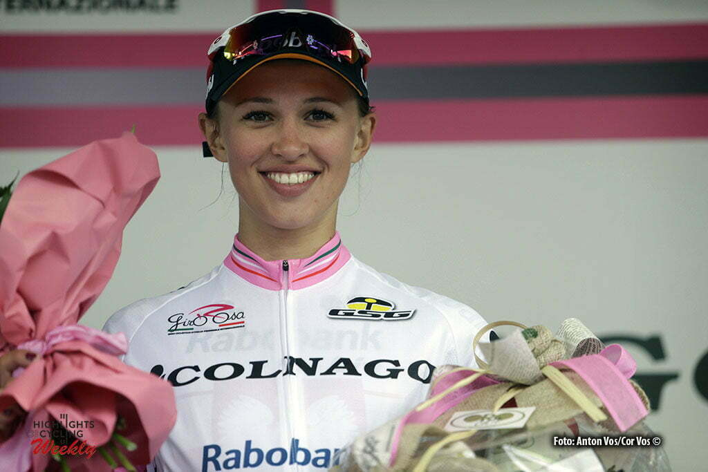 Montenars - Italy - wielrennen - cycling - radsport - cyclisme- Niewiadoma Katarzyna Kasia (Poland / Rabobank Liv Women Cycling Team) pictured during stage 2 of the Giro d'Italia Internazionale Femminile 2016 (2.WWT) from Tarcento to Montenars - photo Anton Vos/Cor Vos © 2016