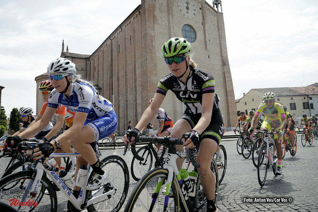 Lendinara - Italy - wielrennen - cycling - radsport - cyclisme- Slik Rozanne (Netherlands / Liv - Plantur) - Kessler Nina (Netherlands / Lensworld - Zannata) pictured during stage 3 of the Giro d'Italia Internazionale Femminile 2016 (2.WWT) from Montagnana to Lendinara - photo Anton Vos/Cor Vos © 2016