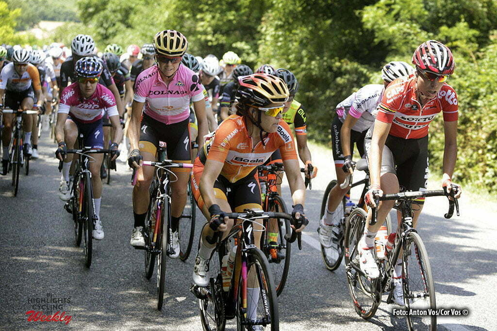 Lendinara - Italy - wielrennen - cycling - radsport - cyclisme- Canuel Karol-Ann (Canada / Boels Dolmans Cycling Team) - Zorzi Susanna (Italy / Lotto Soudal Ladies) Stevens Evelyn (USA / Boels Dolmans Cycling Team) Guarnier Megan (USA / Boels Dolmans Cycling Team) pictured during stage 3 of the Giro d'Italia Internazionale Femminile 2016 (2.WWT) from Montagnana to Lendinara - photo Anton Vos/Cor Vos © 2016