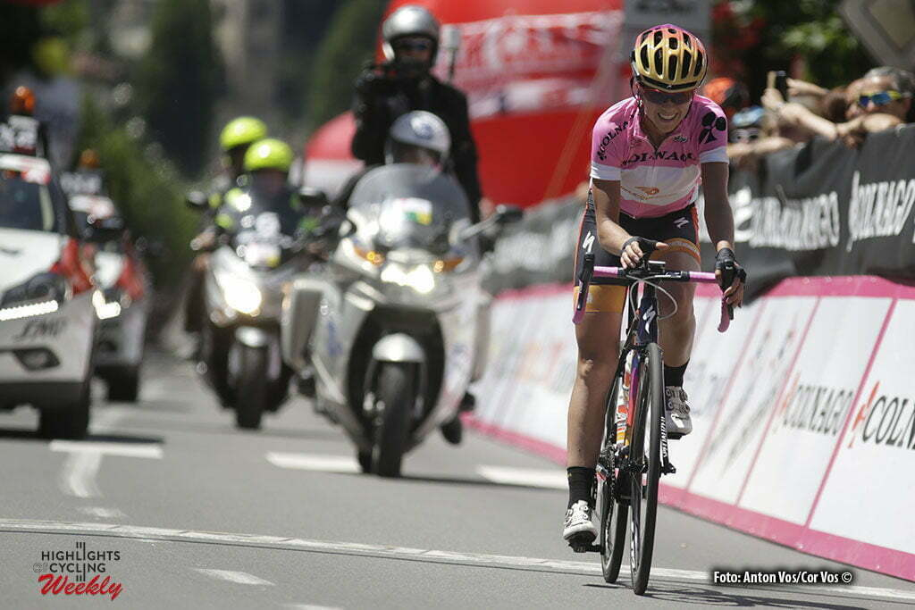Tirano - Italy - wielrennen - cycling - radsport - cyclisme - Stevens Evelyn (USA / Boels Dolmans Cycling Team) pictured during stage 5 of the Giro d'Italia Internazionale Femminile 2016 (2.WWT) from Grosio to Tirano - photo Anton Vos/Cor Vos © 2016