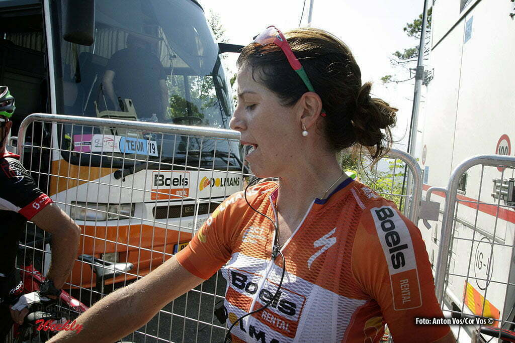 Alassio/Madonna della Guardia - Italy - wielrennen - cycling - radsport - cyclisme - Stevens Evelyn (USA / Boels Dolmans Cycling Team) pictured during stage 6 of the Giro d'Italia Internazionale Femminile 2016 (2.WWT) from Andora to Alassio/Madonna della Guardia - photo Anton Vos/Cor Vos © 2016
