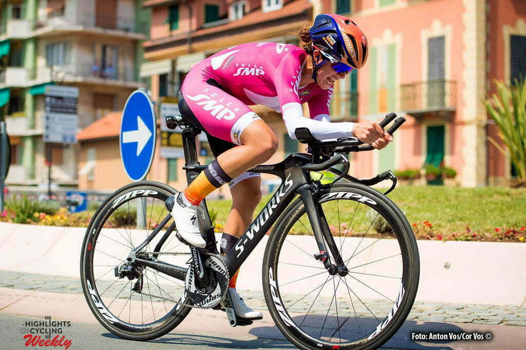 Varazze - Italy - wielrennen - cycling - radsport - cyclisme - Stevens Evelyn (USA / Boels Dolmans Cycling Team) pictured during stage 7 of the Giro d'Italia Internazionale Femminile 2016 (2.WWT) from Albisola Superiore to Varazze - photo Anton Vos/Cor Vos © 2016