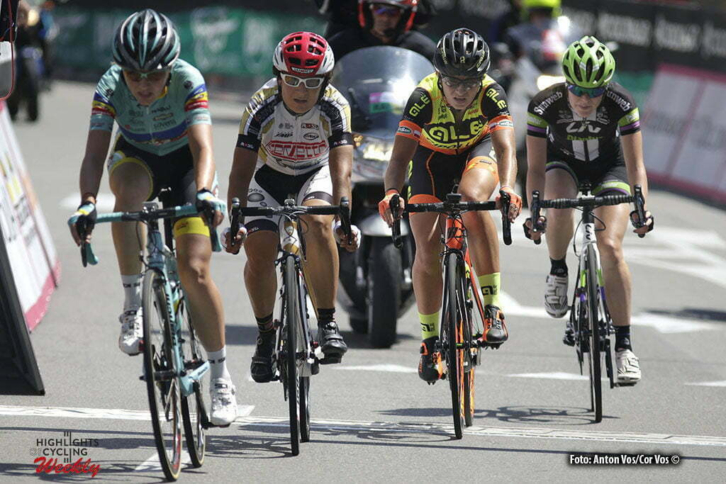 Legnano - Italy - wielrennen - cycling - radsport - cyclisme - Covrig Ana Maria (Romania / INPA Bianchi) - Jasinska Malgorzata (Poland / Ale - Cipollini) - Slik Rozanne (Netherlands / Liv - Plantur) pictured during stage 8 of the Giro d'Italia Internazionale Femminile 2016 (2.WWT) from Rescaldina to Legnano - photo Anton Vos/Cor Vos © 2016