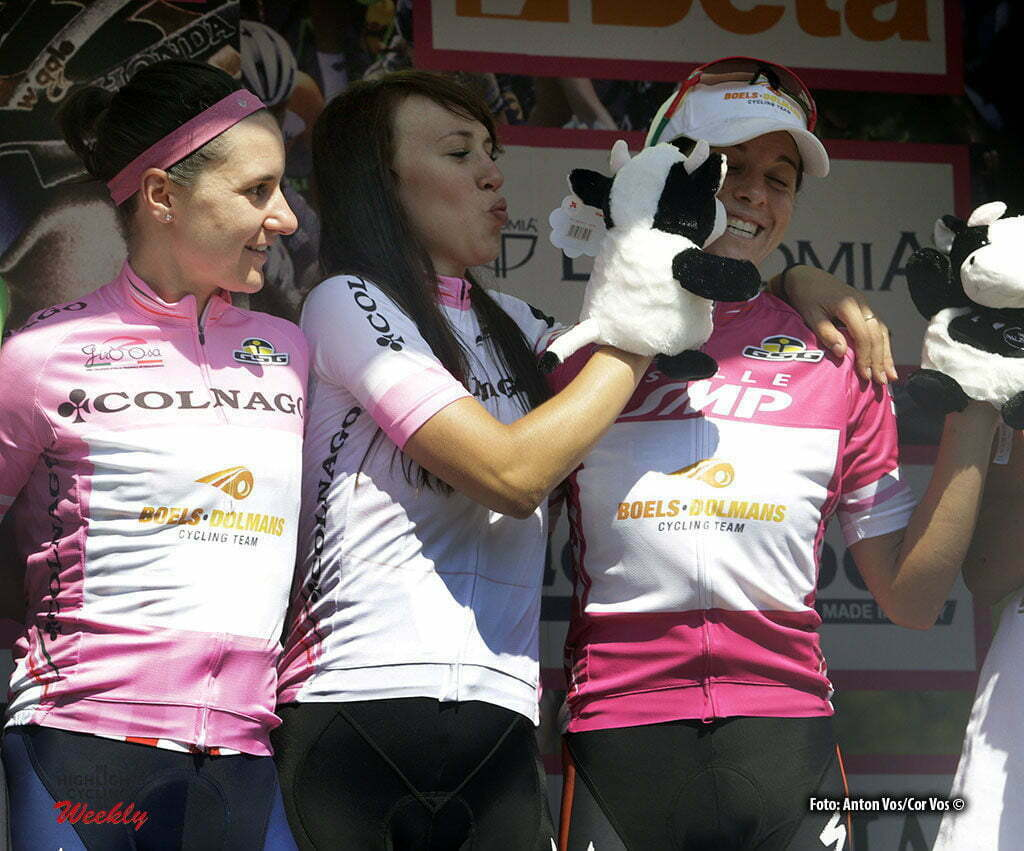 Legnano - Italy - wielrennen - cycling - radsport - cyclisme - Guarnier Megan (USA / Boels Dolmans Cycling Team) Niewiadoma Katarzyna Kasia (Poland / Rabobank Liv Women Cycling Team) - Stevens Evelyn (USA / Boels Dolmans Cycling Team) pictured during stage 8 of the Giro d'Italia Internazionale Femminile 2016 (2.WWT) from Rescaldina to Legnano - photo Anton Vos/Cor Vos © 2016