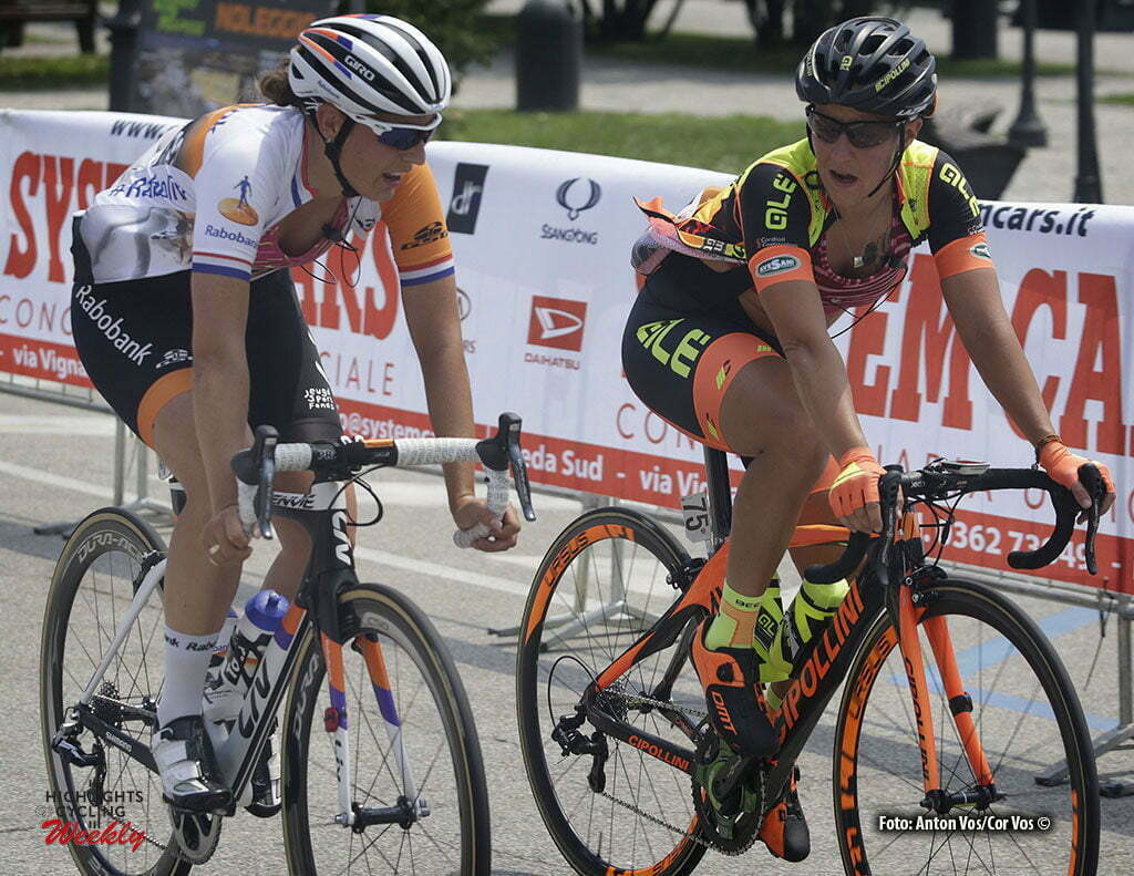 Verbania - Italy - wielrennen - cycling - radsport - cyclisme - Brand Lucinda (Netherlands / Rabobank Liv Women Cycling Team) - Tagliaferro Marta (Italy / Ale - Cipollini) pictured during stage 9 of the Giro d'Italia Internazionale Femminile 2016 (2.WWT) from Verbania to Verbania - photo Anton Vos/Cor Vos © 2016