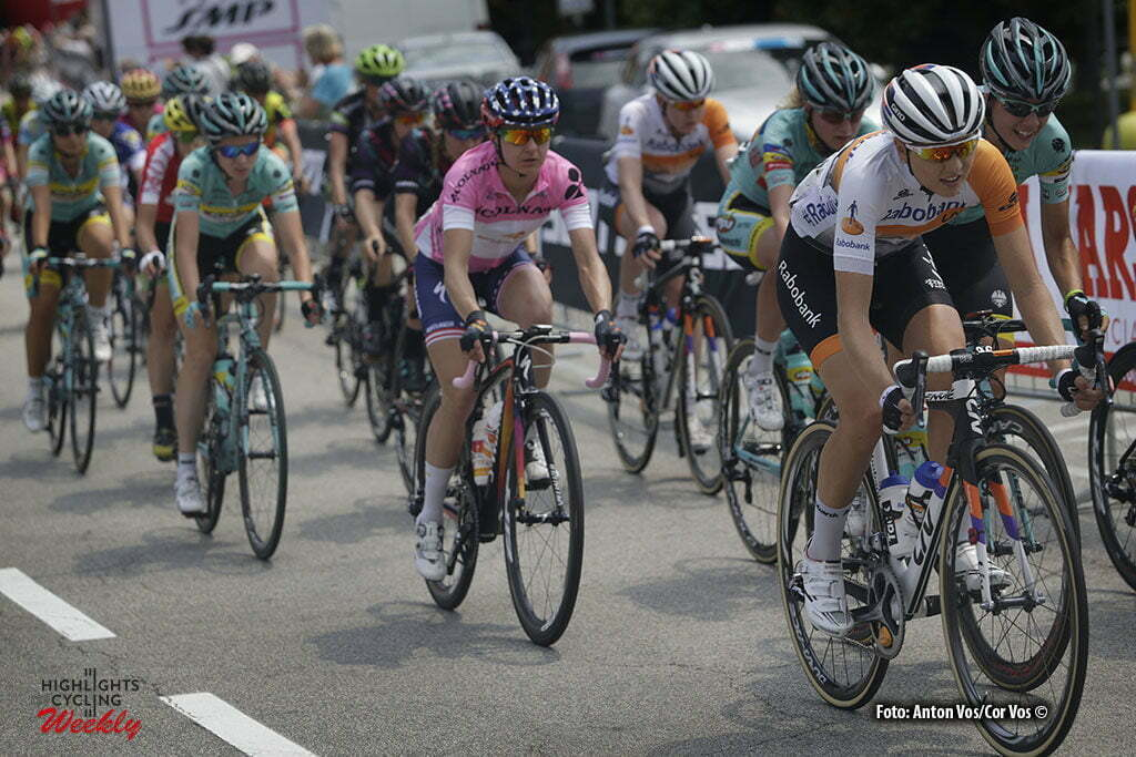 Verbania - Italy - wielrennen - cycling - radsport - cyclisme - Guarnier Megan (USA / Boels Dolmans Cycling Team) - Gillow Shara (Australia / Rabobank Liv Women Cycling Team) pictured during stage 9 of the Giro d'Italia Internazionale Femminile 2016 (2.WWT) from Verbania to Verbania - photo Anton Vos/Cor Vos © 2016