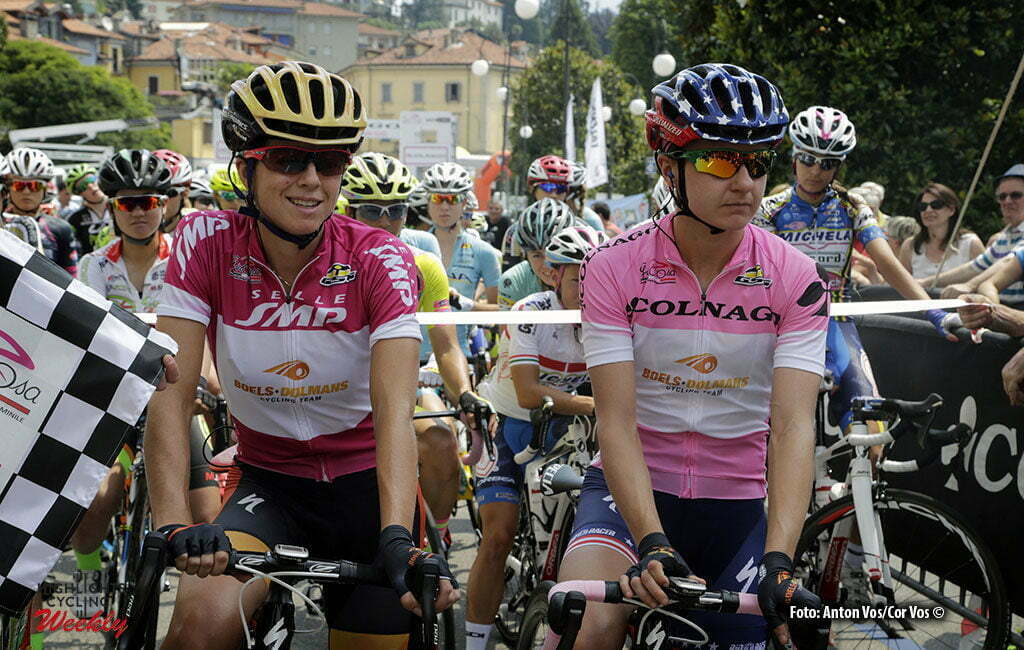 Verbania - Italy - wielrennen - cycling - radsport - cyclisme - Stevens Evelyn (USA / Boels Dolmans Cycling Team) Guarnier Megan (USA / Boels Dolmans Cycling Team) pictured during stage 9 of the Giro d'Italia Internazionale Femminile 2016 (2.WWT) from Verbania to Verbania - photo Anton Vos/Cor Vos © 2016