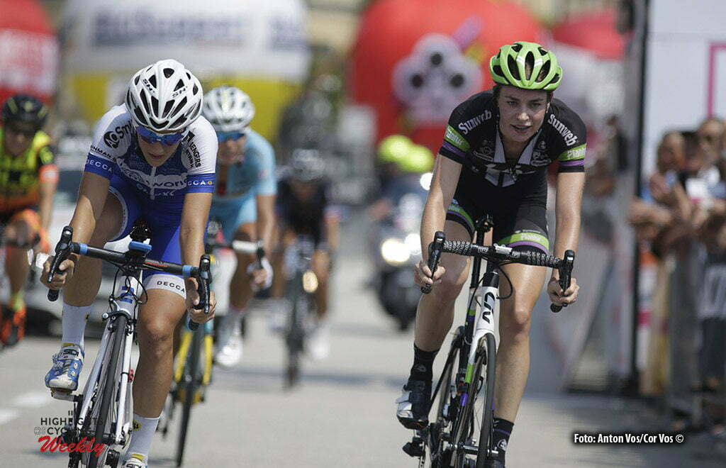 Verbania - Italy - wielrennen - cycling - radsport - cyclisme - Markus Riejanne (Netherlands / Liv - Plantur) - Confalonieri Maria Giulia (Italy / Lensworld - Zannata) pictured during stage 9 of the Giro d'Italia Internazionale Femminile 2016 (2.WWT) from Verbania to Verbania - photo Anton Vos/Cor Vos © 2016