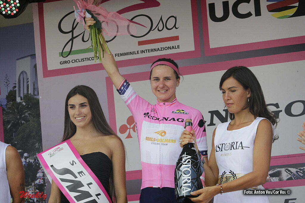 Verbania - Italy - wielrennen - cycling - radsport - cyclisme - Guarnier Megan (USA / Boels Dolmans Cycling Team) - pictured during stage 9 of the Giro d'Italia Internazionale Femminile 2016 (2.WWT) from Verbania to Verbania - photo Anton Vos/Cor Vos © 2016
