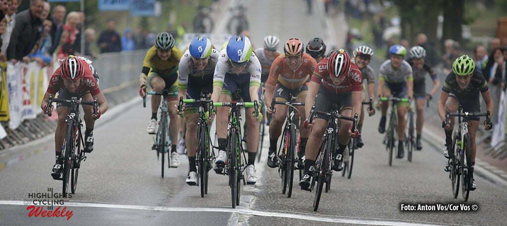 Gooik - Belgium - wielrennen - cycling - radsport - cyclisme - Elvin Gracie (Australia / Orica AIS) - Kopecky Lotte (Belgium / Lotto Soudal Ladies) -Delzenne Elise (France / Lotto Soudal Ladies) - Roy Sarah (Australia / Orica AIS) - Mackaij Floortje (Netherlands / Liv - Plantur) pictured during Gooik-Geraardsbergen-Gooik - women's cyclingrace - photo Anton Vos/Cor Vos © 2015
