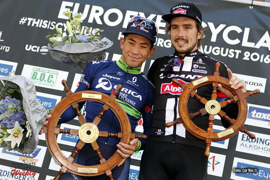 Hamburg - Germany - wielrennen - cycling - radsport - cyclisme - Caleb Ewan (Australia / Team Orica Bike Exchange) - John Degenkolb (Germany / Team Giant - Alpecin) pictured during the Euro Eyes Cyclassics Hamburg 2016 - photo HR/Cor Vos © 2016