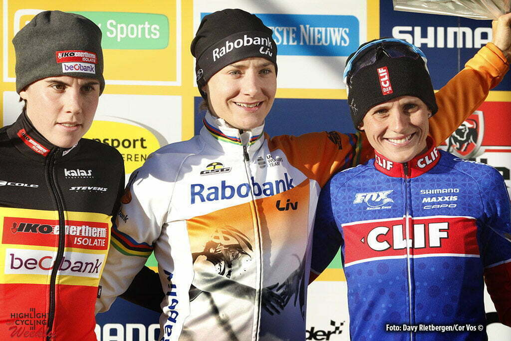 Heusden - Zolder - wielrennen - cycling - radsport - cyclisme - veldrijden - cyclocross - Sanne Cant - Marianne Vos - Katerina Nash pictured during Telenet UCI Cyclo-Cross World Cup for women in Heusden - Zolder - photo Davy Rietbergen/Cor Vos © 2016