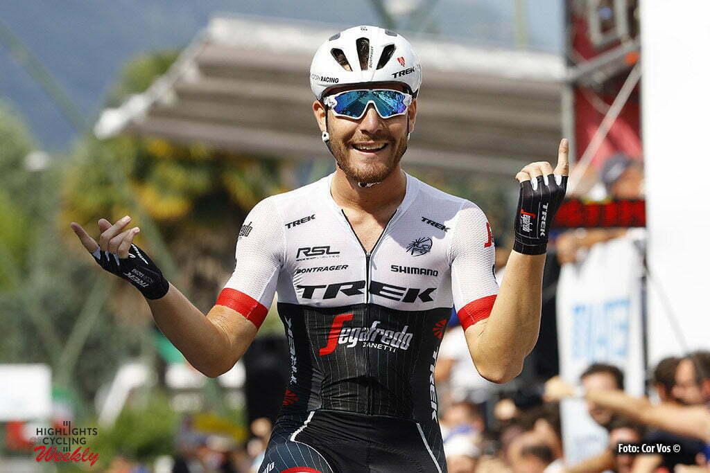 Darfo Boario Terme - Italy - wielrennen - cycling - radsport - cyclisme - Giacomo Nizzolo (Trek - Segafredo) pictured during Italian Championships road elite men in Darfo Boario Terme - photo LB/RB/Cor Vos © 2016
