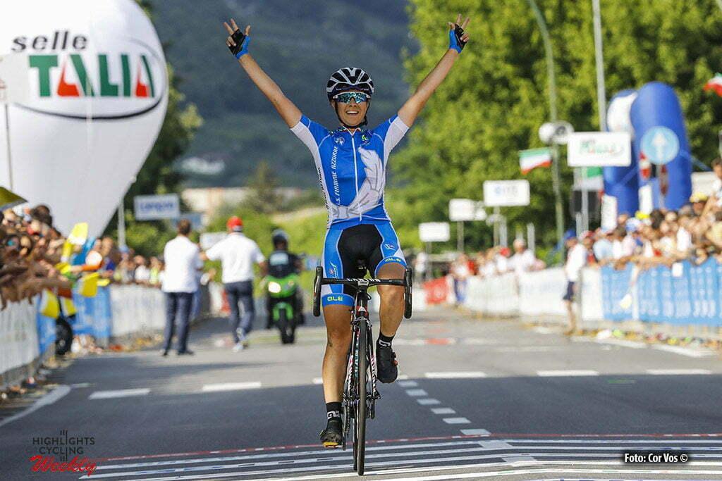 Darfo Boario Terme - Italy - wielrennen - cycling - radsport - cyclisme - Elena Cecchini (Femme Azzurre) pictured during Italian Championships road women in Darfo Boario Terme - photo LB/RB/Cor Vos © 2016