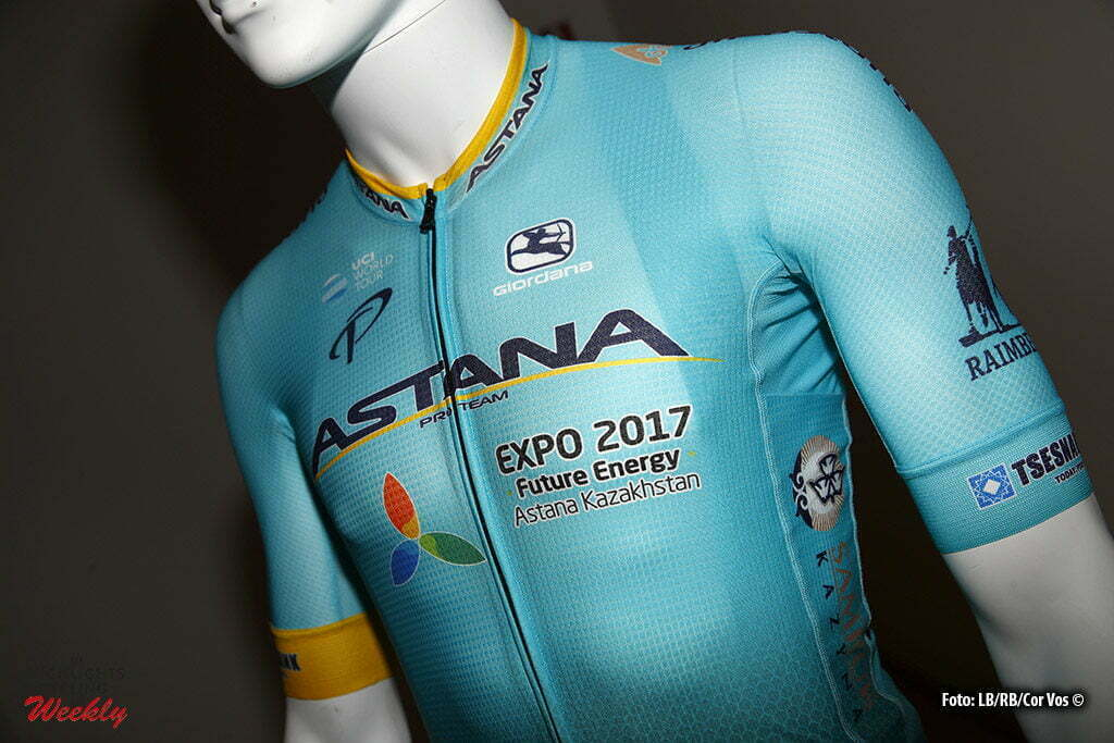 Montecatini Terme - Italy - wielrennen - cycling - radsport - cyclisme - the new outfit of Team Astana pictured during trainingscamp in Montecatini Terme - photo LB/RB/Cor Vos © 2016
