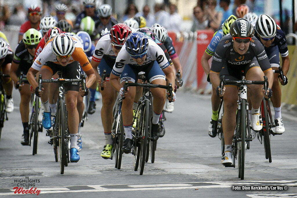 Paris - France - wielrennen - cycling - radsport - cyclisme - Hosking Chloe (Australia / Wiggle High5) - Lotta Lepisto - Marianne Vos (Netherlands / Rabobank Liv Women Cycling Team) pictured during stage 21 of the 2016 Tour de France La Course in Paris - photo Davy Rietbergen/Dion Kerkhoffs/AntonVos/Cor Vos © 2016