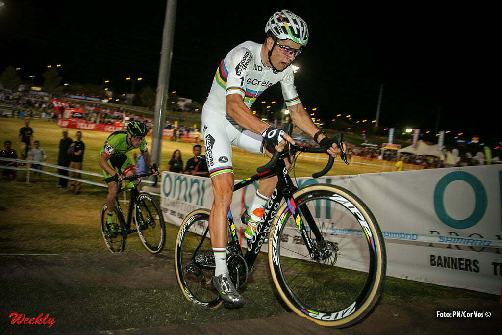 Las Vegas - USA - wielrennen - cycling - radsport - cyclisme - Wout van Aert (Crelan-Vastgoedservice) in action during the 1st leg of the men's elite UCI cyclo-cross World Cup 2016 race, the Clif Bar Fabulous CrossVegas on September 20, 2016 in Las Vegas, USA - photo PN/Cor Vos © 2016