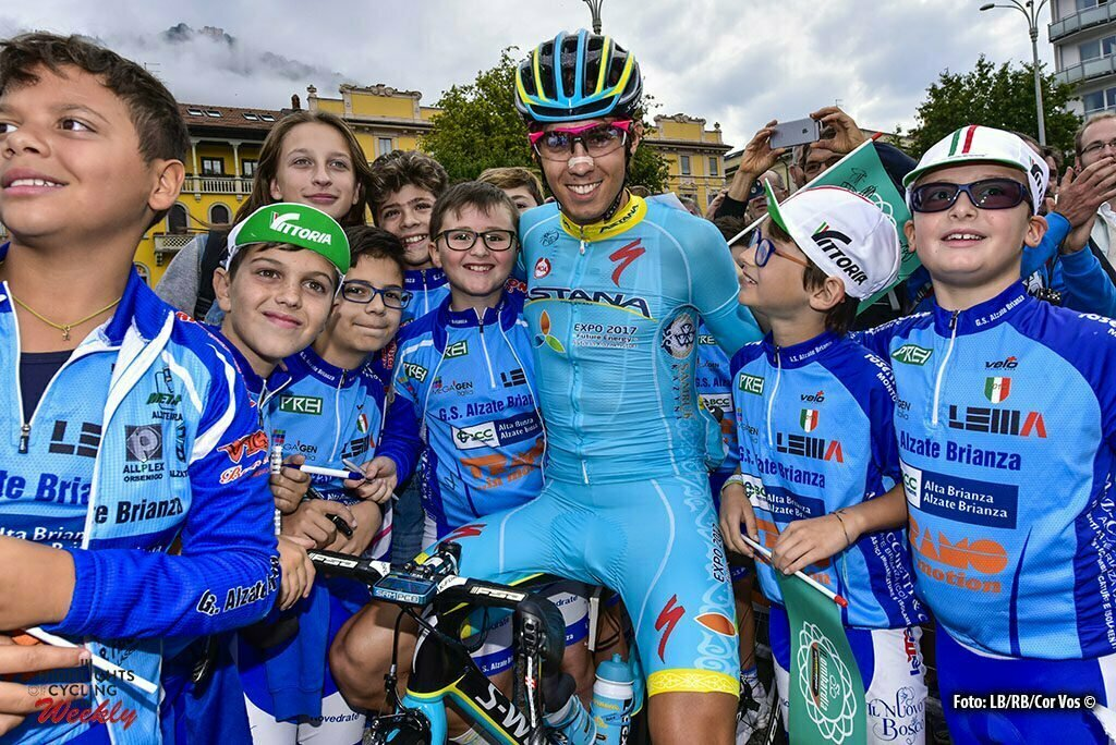 Bergamo - Italy - wielrennen - cycling - radsport - cyclisme - Diego Rosa (Astana) pictured during Il Lombardia 2016 - 110th edition - Como - Bergamo 241 km - 01/10/2016- photo Cor Vos © 2016