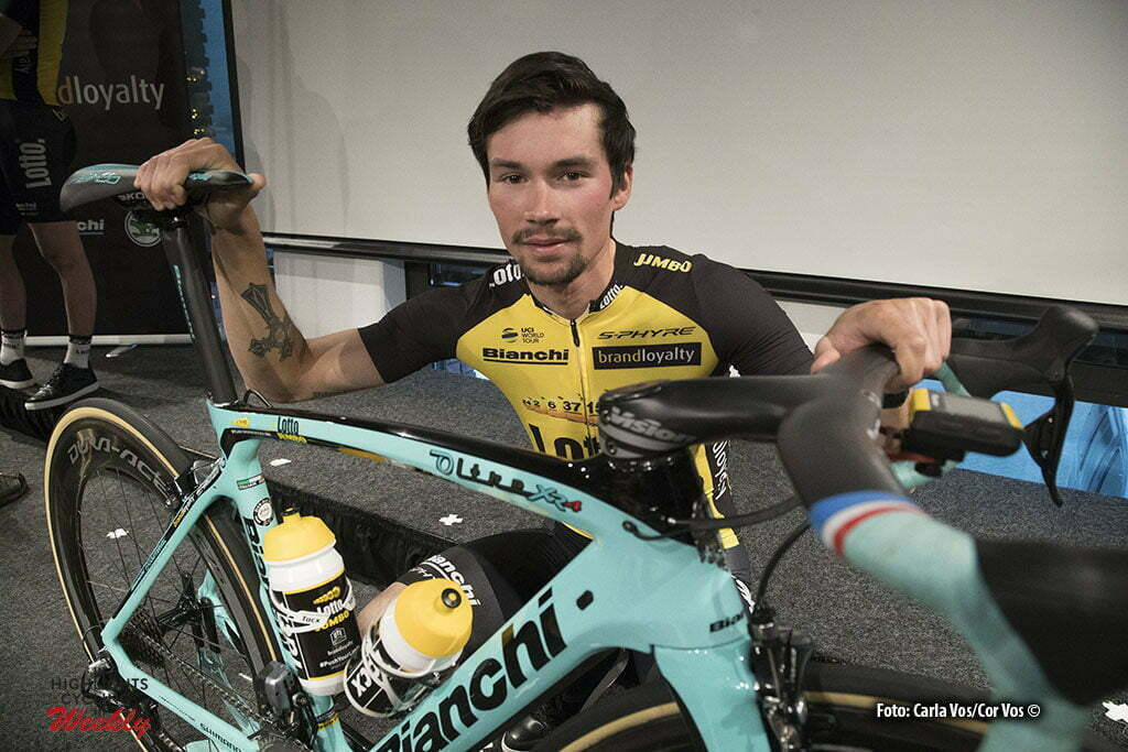 Rijswijk - Netherlands - wielrennen - cycling - cyclisme - radsport - Primoz Roglic pictured during teampresentation LottoNL-Jumbo 2017 in Rijswijk, the Netherlands 22-12-2016 - Photo: Carla Vos/Cor Vos © 2016