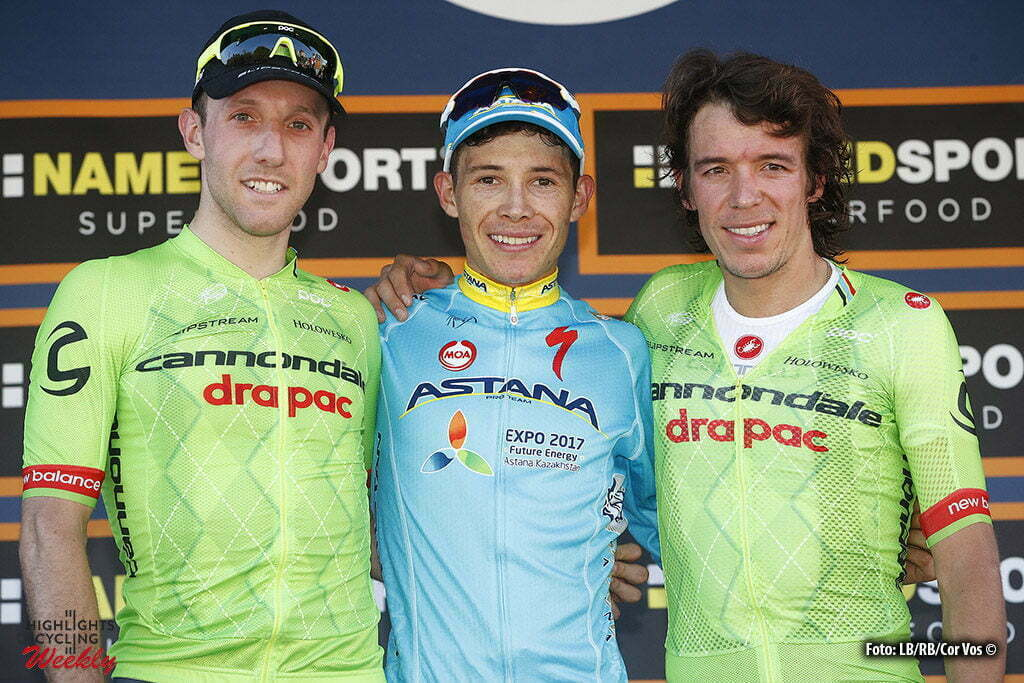 Torino - Italia - wielrennen - cycling - radsport - cyclisme - Miguel Angel Lopez (Astana) - Michael Woods - Rigoberto Uran (Cannondale - Drapac) pictured during Milano - Torino 2016 - 97th edition - Sesto Ulteriano - Torino Basilica di Superga 186 km - 28/09/2016 - photo Cor Vos © 2016